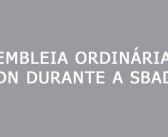 Assembleia Ordinária da SBMDN durantea SBAD BH