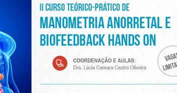 II Curso Teórico-Prático de Manometria Anorretal e Biofeedback Hands On