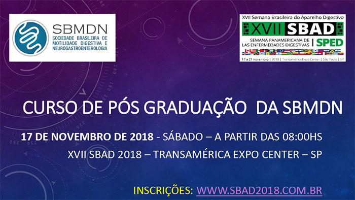 Curso de Pós Graduação da SBMDN