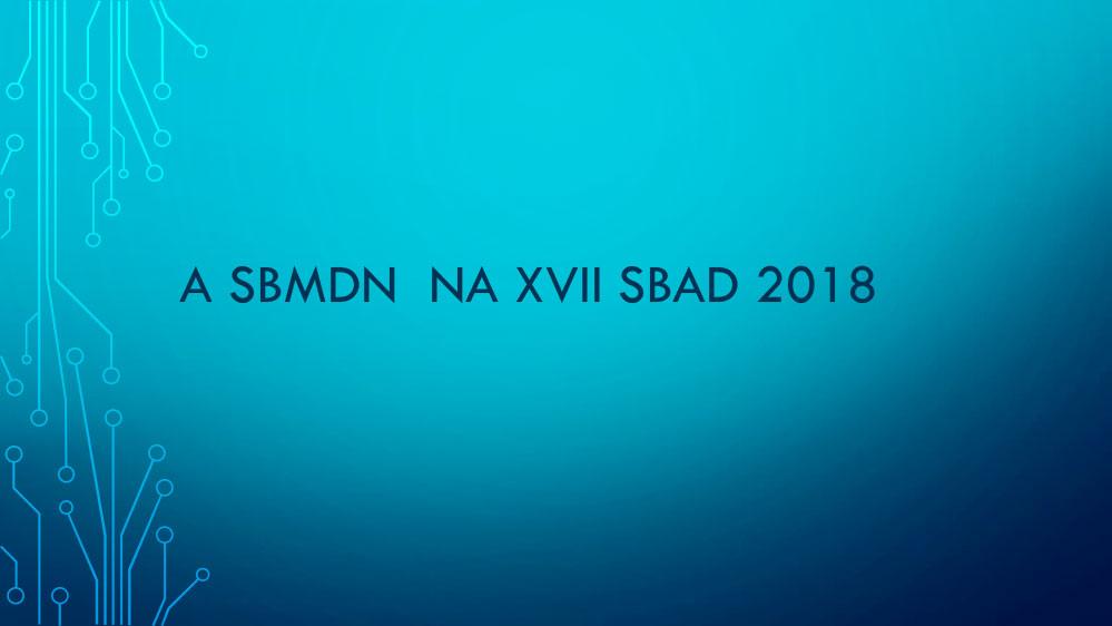 SBMDN na XVII SBAD