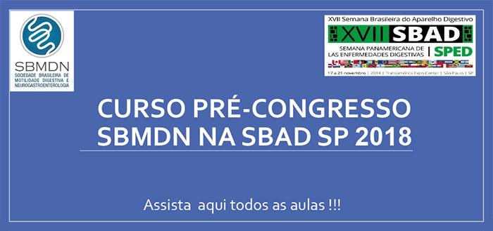 Curso Pré-Congresso SBMDN SBAD SP 2018