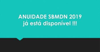 ANUIDADE SBMDN 2019