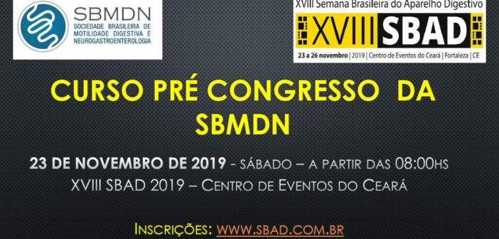 CURSO PRÉ CONGRESSO DA SBMDN 2019