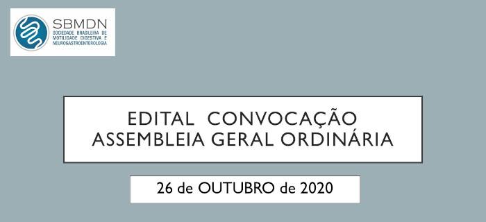Edital Convocação Assembleia Geral Ordinária SBMDN